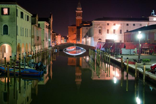 Navigazione notturna a Chioggia